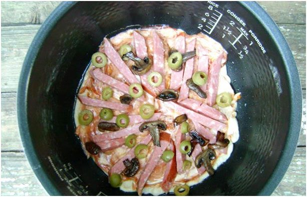 добавить колбаску