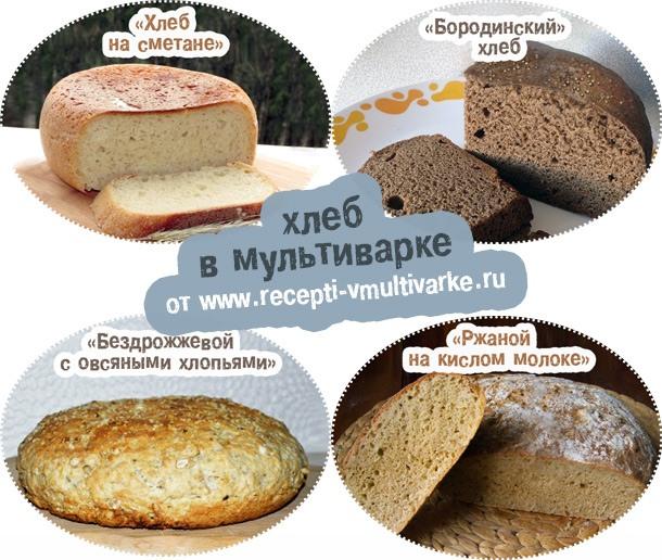 Хлеб бездрожжевой ржаной в мультиварке рецепты пошагово