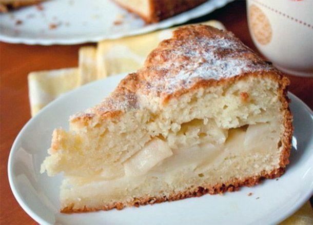 Простой пирог с творогом и яблоками рецепт 125