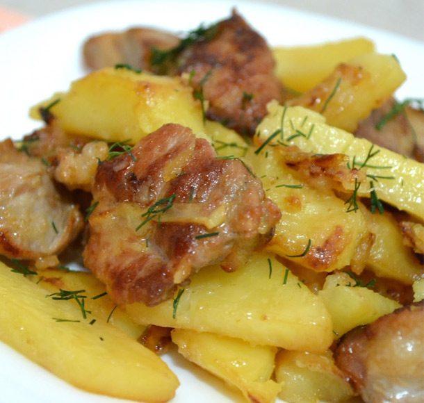Жаркое из мяса с картошкой рецепт с пошагово